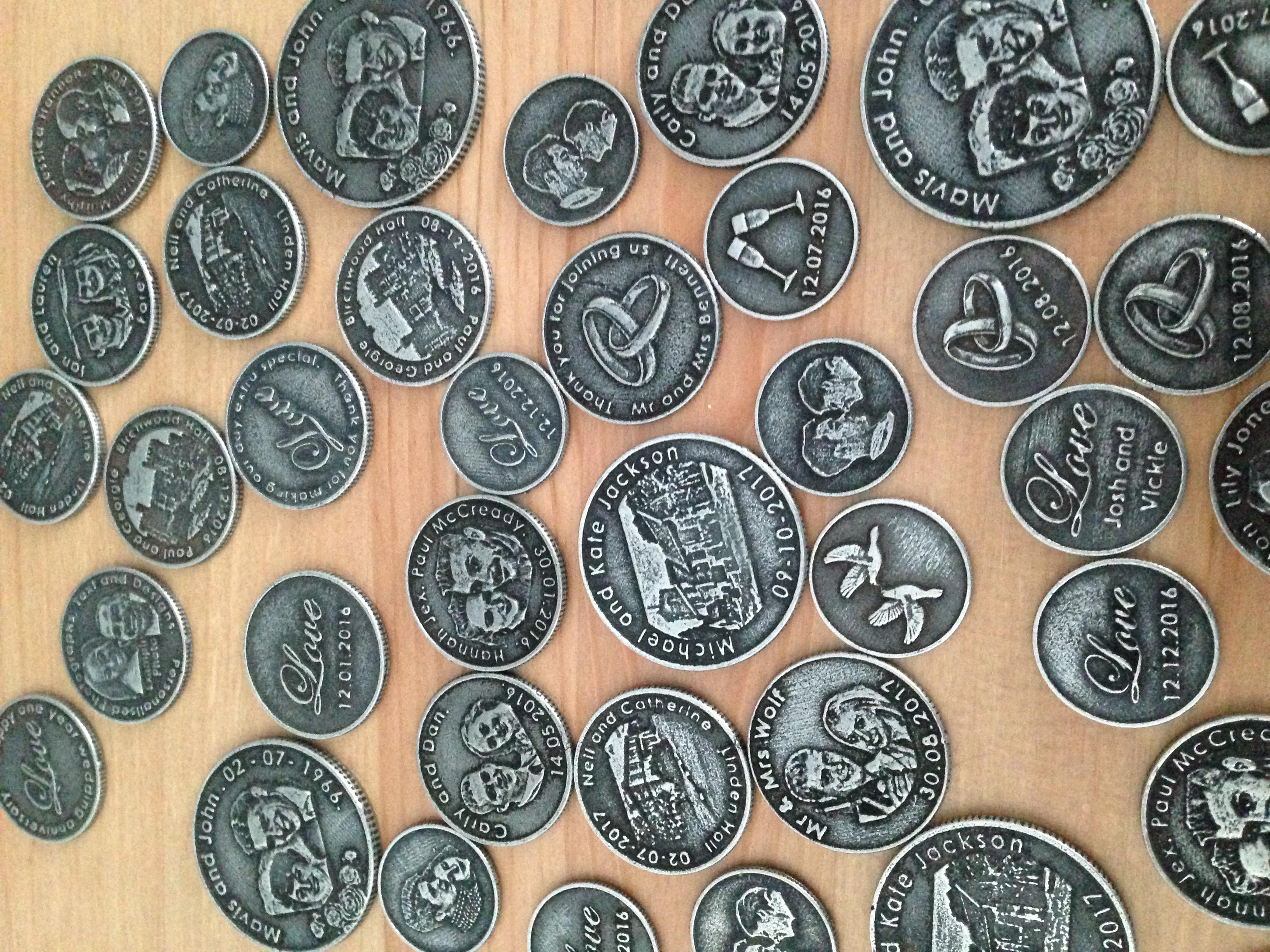 Personalised Wedding Coins