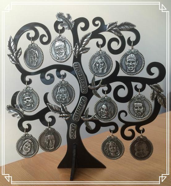 Personalised Photo charm Family Tree Keepsake Gift